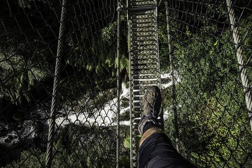 The swing bridge #11, Montezuma Falls, Tasmania's West Coast