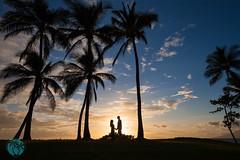 Love Silhouetted by Beauty (brandon.vincent) Tags: birthday trees sunset sky tree love beautiful beauty silhouette hawaii holding hands couple maui palm romantic hyatt 50th wailea andaz