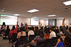 "WICS Week 1: 1st General Meeting & Mentorship Mixer 9/30/15 • <a style=""font-size:0.8em;"" href=""http://www.flickr.com/photos/88229021@N04/21303065733/"" target=""_blank"">View on Flickr</a>"