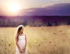 Butterfly Fields (Syllhouette) Tags: sunset summer sun cute colors girl field sunshine childhood butterfly children spring soft child wind christina creative butterflies creamy sunflare nikond800 christiabengephotography christinabengephotography