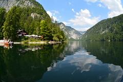 Fisheye Toplitzsee (Patrick Vierthaler) Tags: summer mountain lake mountains landscape austria see österreich fisheye berge 夏 風景 湖 salzkammergut オーストリア ausseerland toplitzsee アルプス フィッシュアイ 山河 club16