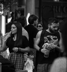 Estilos (Koke Hernn) Tags: street blackandwhite bw music woman man blancoynegro water rock contrast outdoors blackwhite bottle concert spain nikon couple day folk performance bn valladolid sound styles thirst manandwoman nikond3200 2015 castillayleon d3200 musicday diadelamusica