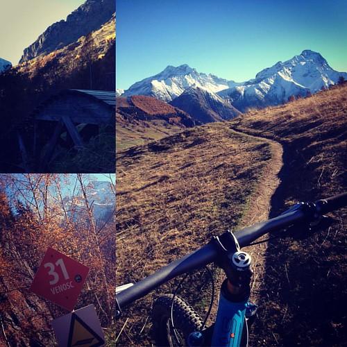 #halloween #mountainbike ride in #lesdeuxalpes and #venosc. #singletrack #orange5 #october #mtb #bike #alps #