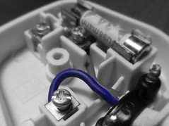 Blue Plug... (BAKAEDAR) Tags: blue electric plug macromondays