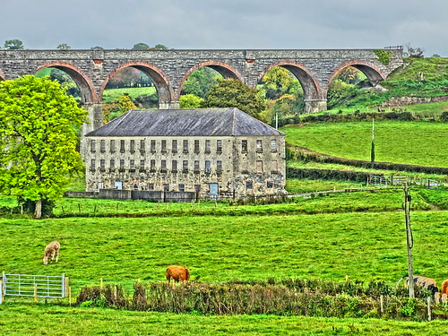 TASSAGH MILL AND VIADUCT NEAR KEADY CO ARMAGH