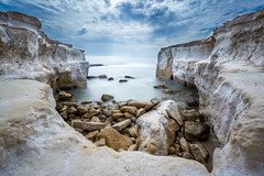 dreamers bay (carltaylor) Tags: ocean longexposure sea wild beach nature water canon landscape bay mediterranean natural cove wildlife cyprus nocrop limassol akrotiri lemesos leefilters canon6d dreamersbay leebigstopper