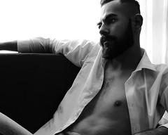 Christian R. (Ivan Contreras C.) Tags: white man black men guy blanco backlight contraluz model nipples skin interior negro handsome class modelo sensual chico guapo clase hombre pezones piel