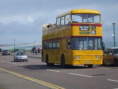 GRU163V 903  . Eastcliffe , Bournemouth 12/8/08. (busmothy) Tags: summer coast alexander fleetline 903 opentop bournemouthpier boscombe leylandfleetline seafrontservice eastcliffe gru163v coastalservice