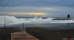 Poniente (oscarberenguergrau) Tags: sea espaa sun sol beach clouds landscape mar spain sand nikon playa paisaje arena nubes torrenueva temporal poniente d7000