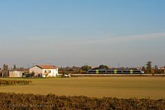 Fra terra e cielo (Antonio Martinetti) Tags: train lugo treno ravenna trenitalia minuetto massalombarda