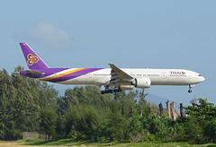 Thai Airways Boeing 777-3AL(ER) HS-TKO (EK056) Tags: airport international thai boeing airways phuket 7773aler hstko