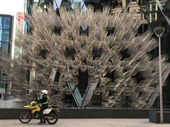 On a Trip, without drugs! (The Stig 2009) Tags: street city london art apple bike o steel bikes tony 400 forever dirtbike suzuki gherkin 2009 stig stainless cycles iphone stmaryaxe drz pushbike 2015 6s thestig tonyo aiweiwei thestig2009 sculpturesinthecity