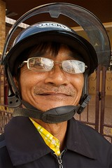 SONY3_ 081452 (andi islinger) Tags: old portrait people man thailand asia transport motorbike streetscenes select isaan isan phimai thailand2014