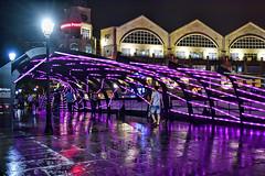 RIBon Bridge (chooyutshing) Tags: ribonbridge interactiveartinstallation litup display attractions philipsacryliclighttubes giantribcage readbridge clarkequay singaporeriver2015christmasfestival singaporeriver singapore