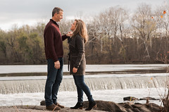 A Time for Loved Ones (Geoff Livingston) Tags: love river waterfall engagement couple day outdoor talk marriage falls aqueduct conversation holdhands