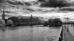 Bad weather approaching! (mpersson60) Tags: sverige sweden stockholm svartvitt bw moln clouds vatten water