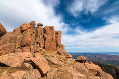 Colorful Pikes Peak Rock Formations (Tycho's Nose) Tags: pikespeak rockformations colorado