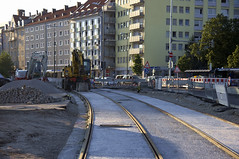 Die knftige Haltestelle am Vogelweideplatz (Frederik Buchleitner) Tags: baustelle bergamlaim haidhausen linie25 mvg munich mnchen neubaustrecke steinhausen strasenbahn streetcar tram trambahn