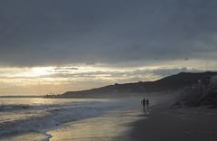 Colony Beach (blueteeth) Tags: ocean shore couple silhouette romance dusk malibu california beach tranquil