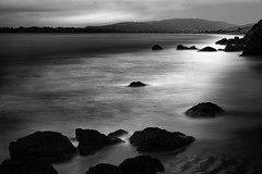 Pacific Way (StefanB) Tags: 1235mm 2016 bw california coast em5 geotag longexposure monochrome outdoor pacific seascape sea hwy1 mickeysbeach ocean