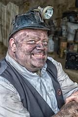 Chesterfield Market 1940's Day October 2016 (Jazpix) Tags: chesterfield lamp chesterfieldmarket vintage coalminer coaldust helmet helmetlamp