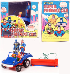 1974 Super Friends remote control car (Tom Simpson) Tags: superfriends superman batman aquaman robin 1974 1970s vintage toys remotecontrol