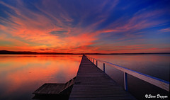0S1A5052enthuse (Steve Daggar) Tags: longjetty sunset gosford nswcentralcoast wharf jetty lake reflection