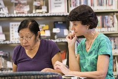160909_Karen Burgan and student_003 (Pima County Public Library) Tags: elriolibrary pimacountylibrary instruction adulteducation ged continuingeducation adulttraining jobtraining library d5