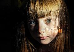 Olivia Through a Glass Darkly (DeeMac) Tags: sadchild bigeyes melancholy seriouschild wistfulchild throughaglassdarkly d700 nightportrait