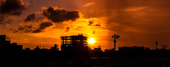 Old Town Sunset ...... (mithila909) Tags: city bilding construction cloud cityscape