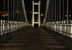 "On the bridge (Vidar ""the Viking"" Ringstad, Norway) Tags: autumn fall cold windy bridge longexposure nightshot pattern stripes lines cool light dark shotinthedark nature naturepic natureshot canoneos5dmkiii rnsfoss nes norge norway norwegen"
