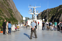 On a Tourist Ship in the Trollfjord, Norway (4) (Phil Masters) Tags: 21stjuly july2016 norwayholiday norway raftsund raftsundet thetrollfjord trollfjorden trollfjord shipsandboats msspitsbergen hurtigruten tourists
