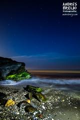 Fundiendome en la noche (Andres Breijo http://andresbreijo.com) Tags: noche nocturna playa beach night nightscape mar sea nerja axarquia malaga andalucia espaa spain
