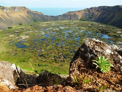 Crater in Rano Kau - Rapa Nui - Eastern island - Chile (pacoalfonso) Tags: crater rano kau volcan lake pacoalfonsocom chile rapa nui eastern island pacific travel