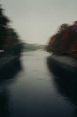 6:16 Ego Death (tiahnifae) Tags: blurred hazy vision film blurredfilm filmphotography morningphotos filmphotos filmonly filmblogs faebyfilm canal berlin lakes river swans nature autumn germany europe midseason winterfall darkness symmetry darkmornings coldweather ice walkofshame ego egodeath tripping high drugs view