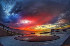 It actually rained in Los Angeles last Sunday ! #hdr #sunset (shinnygogo) Tags: cloudscape ocean beach vivid endofday southbay redondobeach losangeles sunday sunset hdr