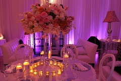 Very beautiful #setup paired with #floral bouquet + purple #colorwash #uplighting! : #FiestasEventDesigns (RentMyWedding) Tags: diy rentmywedding wedding uplighting diywedding weddingideas weddinginspiration ideas inspiration celebration weddingreception party weddingplanner event planning dreamwedding