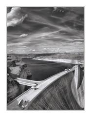Glen Canyon Dam, Glen Canyon National Recreation Area, AZ, #31 (Vincent Galassi) Tags: lasvegas nevada usa glencanyondam glencanyonnationalrecreationarea az 31pentax645d pentax6735mm 1200s f16 iso100 dam glen canyon architecture black white