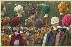 Fair in Big City (Irina Kiseleva) Tags: ny manhattan composition car repetition building hat scarf mannequin fair color red green yellow white blue