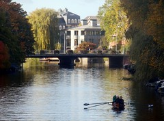 Canal Scene (Quetzalcoatl002) Tags: canal amsterdam boat rowingboat