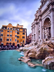 Fontana di Trevi (fabsit) Tags: trevifountain rome italy europe city travel fountain water longexposure clouds orange blue