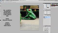Ma petite fabrique photoshop Les Guernouilles-2 (alexandrarougeron) Tags: cration vido grenouille verte art montage visuelle compososition style nature dtourage