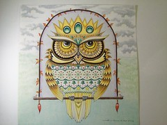 Owl (Lynne M. B.) Tags: coloringadults coloring coloringbook coloredpencils drawing art illustration prismacolor johannaschristmas jahannabasford owls