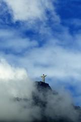Cristo Redentor / Christ the Redeemer #3 (AdrianoSetimo) Tags: cristoredentor corcovado christtheredeemer cosmevelho riodejaneiro brasil esttua statue outdoor clouds cloudy nuvens nublado nuvem montanha nature cityscape bluesky canonfd canonfd75200mm olympusomdem10 em10