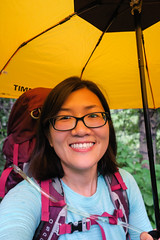 Some people are happier than others when it rains (GlobalGoebel) Tags: hiking umbrella grand teton national park wyoming granite canyon backcountry canon powershot g9x tetoncresttrail