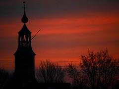 ACRObatiek. (Warmoezenier) Tags: acrobatiek architecture church gallo haan iglesia kattendijke kerk nederland netherlands toren torre tower zeeland