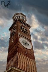 verona (diemmezeta) Tags: verona veneto tower torre torredellorologio watchtower city cloud sky cielo nuvole nuvola