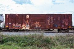 (o texano) Tags: texas graffiti trains freights bench benching rp five msg