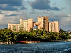 Atlantis  Paradise Island, Bahamas (-gregg-) Tags: atlantis bahamas clouds sky resort palm trees vacation evening