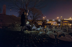 Feeding swans at advent time in Prague (Martin Laclav) Tags: prague swan night river long exposure d7000 14mm samyang advent